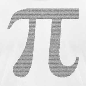 Pi - Men's T-Shirt by American Apparel