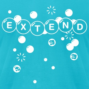 Turquoise Extend T-Shirts - Men's T-Shirt by American Apparel