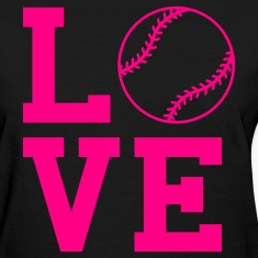 Black loves oftball Women's T-Shirts