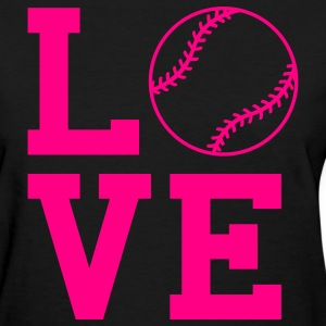 Black loves oftball Women's T-Shirts - Women's T-Shirt
