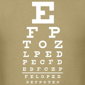 Khaki eye chart T-Shirts - Men's T-Shirt