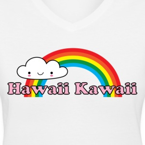Hawaii Kawaii Rainbow Women's T-Shirts - Women's V-Neck T-Shirt
