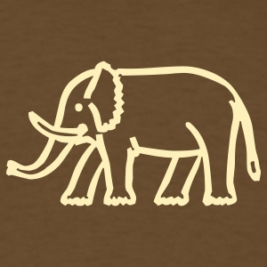 Brown elephant T-Shirts - Men's T-Shirt