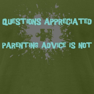 Olive parenting advice [blue] T-Shirts - Men's T-Shirt by American Apparel