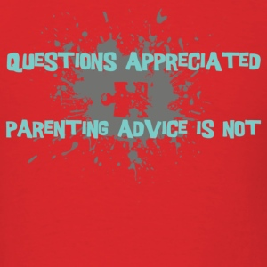 Red parenting advice [blue] T-Shirts - Men's T-Shirt
