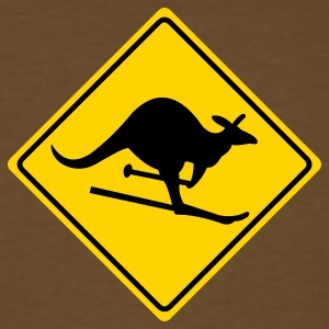 Brown roadsign kangaroo T-Shirts - Men's T-Shirt