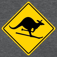 Deep heather roadsign kangaroo Women's T-Shirts