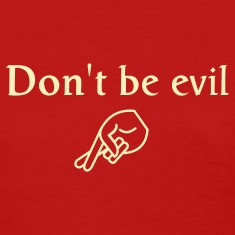 Red don't be evil Women's T-Shirts