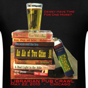 Black Librarian Pub Crawl T-Shirts - Men's T-Shirt