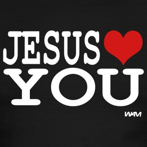Black/white jesus loves you T-Shirts - Men's Ringer T-Shirt