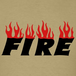 Khaki fire T-Shirts - Men's T-Shirt