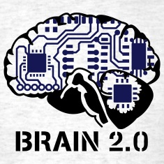 Light oxford brain 2.0 T-Shirts