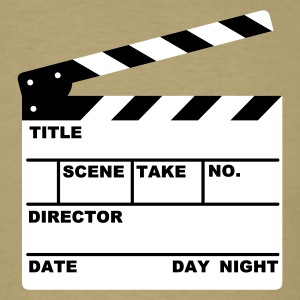 Khaki clapperboard (writable flex) T-Shirts - Men's T-Shirt
