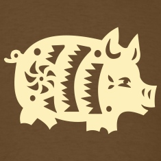 Brown  pig T-Shirts