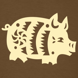 Brown  pig T-Shirts - Men's T-Shirt