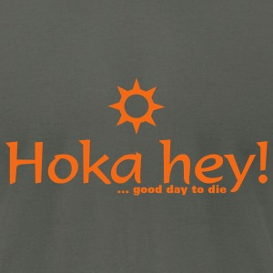 Asphalt hoka hey (1c) T-Shirts - Men's T-Shirt by American Apparel