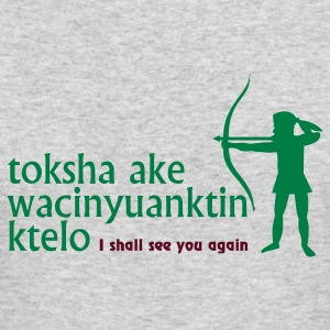 Heather grey toksha ake wacinyuanktin ktelo (2c) Long Sleeve Shirts - Men's Long Sleeve T-Shirt by Next Level