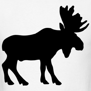White moose T-Shirts - Men's T-Shirt