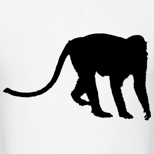 White baboon T-Shirts - Men's T-Shirt