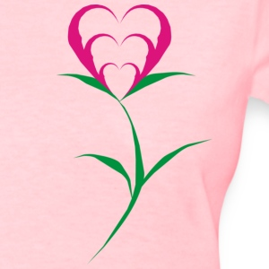 Heart on a Flower - Women's T-Shirt
