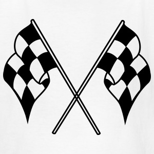 White checkered flag Kids' Shirts - Kids' T-Shirt