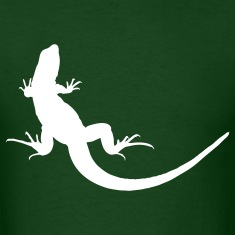 Forest green lizard T-Shirts