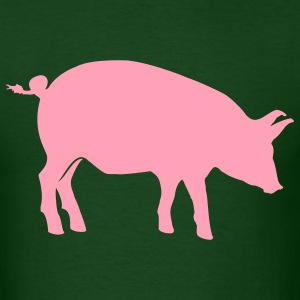 Forest green pig T-Shirts - Men's T-Shirt