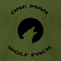 Olive one man wolf pack T-Shirts