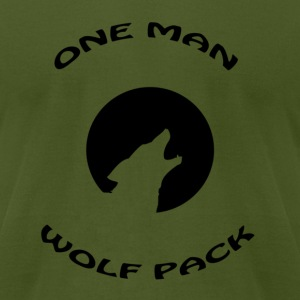 Olive one man wolf pack T-Shirts - Men's T-Shirt by American Apparel