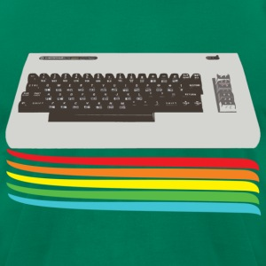Kelly green keyboard (commodore vic 20) T-Shirts - Men's T-Shirt by American Apparel