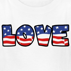 White love flag Kids' Shirts - Kids' T-Shirt
