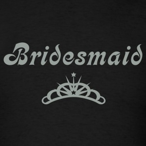Black Bridesmaid T-Shirts - Men's T-Shirt