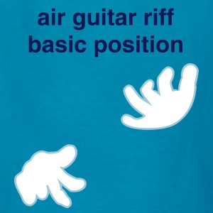 Turquoise hands playing the air guitar (2c) Kids' Shirts - Kids' T-Shirt