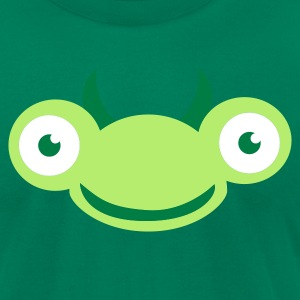 Kelly green bug praying mantis buggy cute face T-Shirts - Men's T-Shirt by American Apparel
