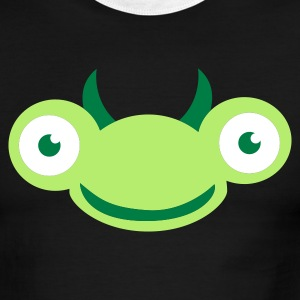 Green/white bug praying mantis buggy cute face T-Shirts - Men's Ringer T-Shirt