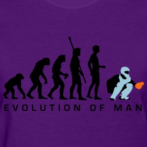 Light blue evolution_baseball_catcher_b_3c Women's T-Shirts - Women's T-Shirt