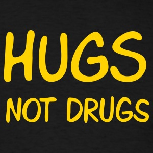 Black hugs not drugs T-Shirts - Men's T-Shirt