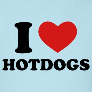Sky blue I Love Hotdogs T-Shirts - Men's T-Shirt