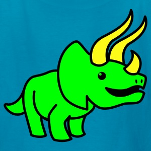Orange cute triceratops  dinosaur Kids' Shirts - Kids' T-Shirt