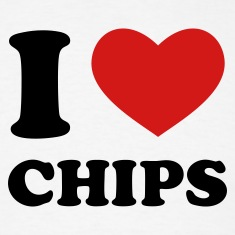 White I Love Chips T-Shirts