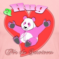 Chocolate a Hug for the Survivors Breast Cancer Panda Long Sleeve Shirts