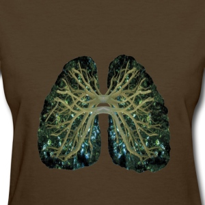 Brown Tree Lungs Women's T-Shirts - Women's T-Shirt