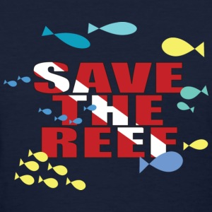 Navy Save The Reef Women's T-Shirts - Women's T-Shirt