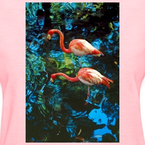 Flamingos in the Everglades, Florida - Women's T-Shirt