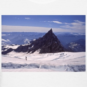 Climber on Mt Rainier, Washington - Women's T-Shirt