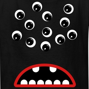 Black Googly Eyed Monster Kids' Shirts - Kids' T-Shirt