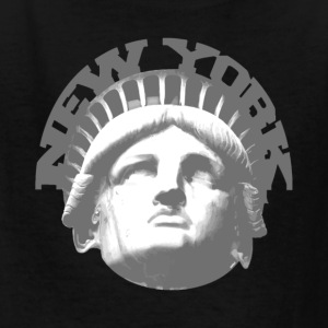 Black new york statue of liberty Kids' Shirts - Kids' T-Shirt