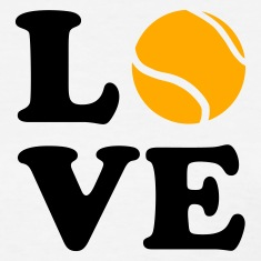 White Love Tennis Women's T-Shirts