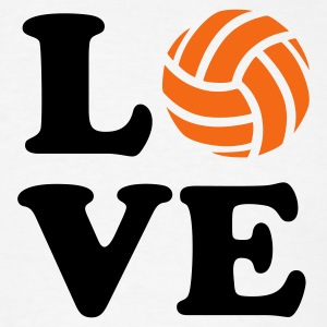 White Love Volleyball T-Shirts - Men's T-Shirt