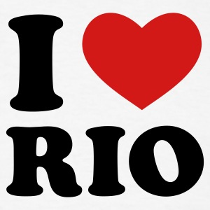 White I Love Rio T-Shirts - Men's T-Shirt